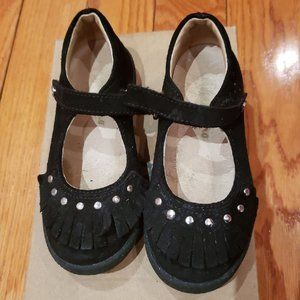 Naturino toddler black suede girls sandals size 10
